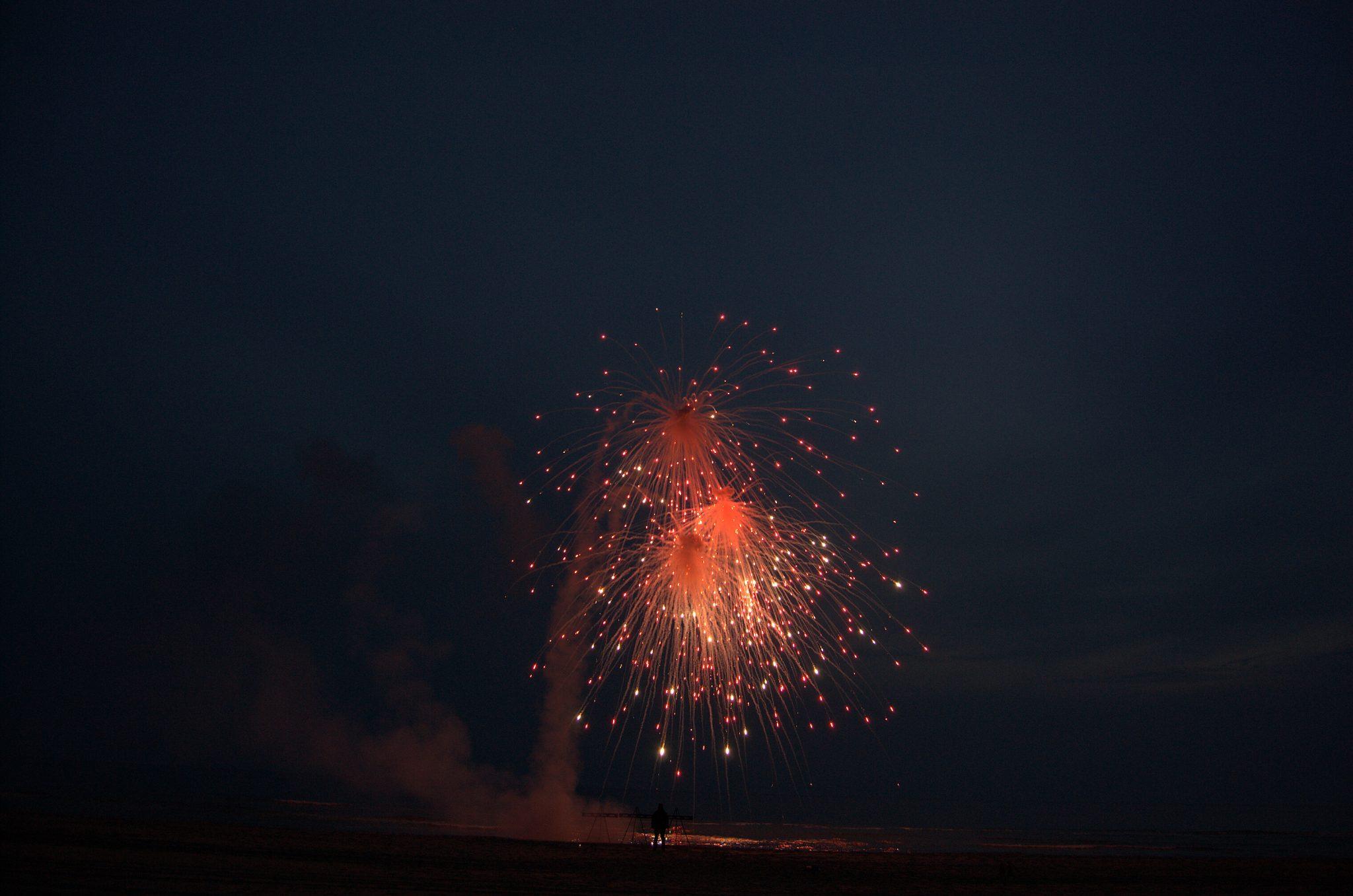Asverstrooiing per asvuurpijl voor een vuurwerk ceremonie | Dream Fireworks